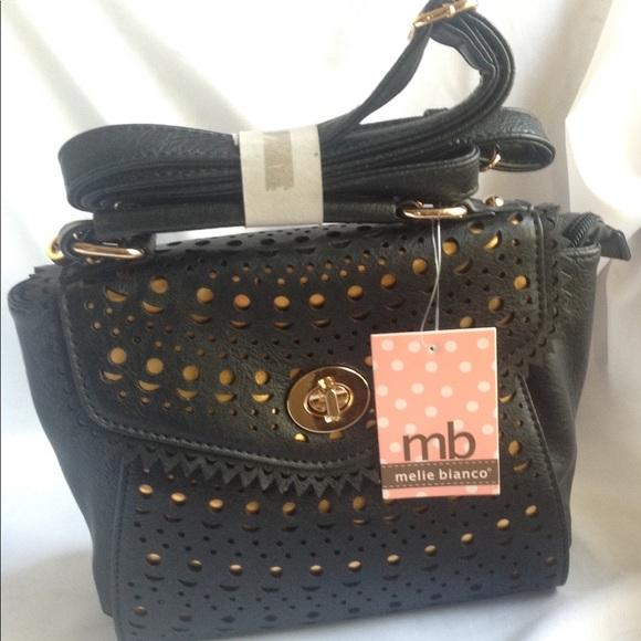 Melie Bianco Bags   Sophia Black Crossbody Kelly Bag   Poshmark 000b548042